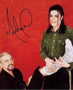 Michael Jackson and his designer Michael Bush