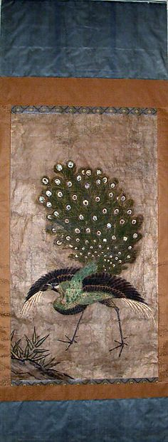 Peacock, 17th century. Edo period (1615–1868). Japan. The Metropolitan Museum of Art, New York. H. O. Havemeyer Collection, Bequest of Mrs. H. O. Havemeyer, 1929 (29.100.474) #peacock