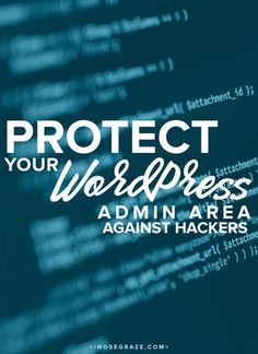 Protecting your wordpress admin area against hackers  Stop by my Shop www.etsy.com/shop/teolddesign