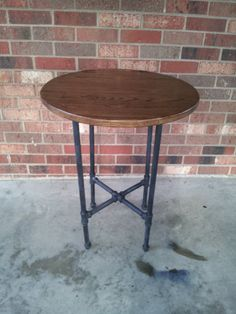 Reclaimed Wood Side Table Steel Pipe Table by BlueRidgeWoodworking, $195.00