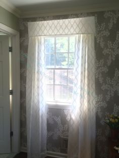 Beautiful translucent  pelmet and sheer curtains by Leatherwork Design Co