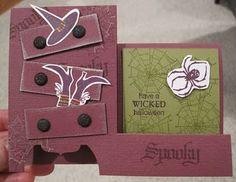 Witch's Dresser Halloween Card