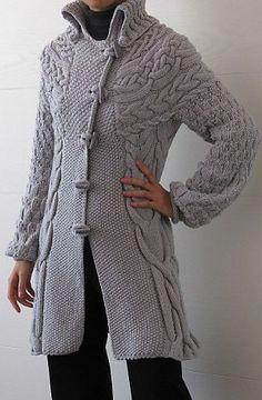 Пальто спицами описание. Как вязать пальто спицами описание | Все о рукоделии: схемы, мастер классы, идеи на сайте labhousehold.com