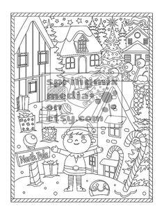 printable xmas coloring page holiday xmas north pole christmas treats holiday coloring book - Holiday Coloring Book