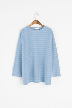 S/S Stripe Tee, Blue