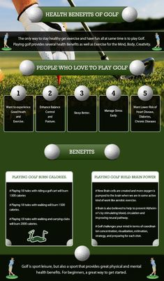 Health Benefits of Golf Infographic #AwesomeTaylorMadeGolfClubs