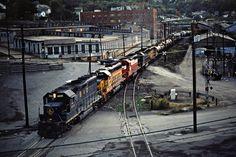 B&O, Butler, Pennsylvania, 1981 Northbound Baltimore and Ohio Railroad freight train in Butler, Pennsylvania, on September 30, 1981. Photograph by John F. Bjorklund, © 2015, Center for Railroad Photography and Art. Bjorklund-16-21-17