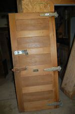 Charmant VINTAGE OAK PANELED COMMERCIAL FREEZER DOOR. ARCHITECTURAL SALVAGE COFFEE  TABLE