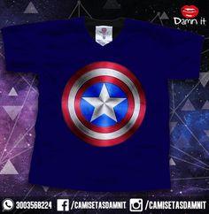 Camiseta Capitán América  https://www.facebook.com/CamisetasDamnit