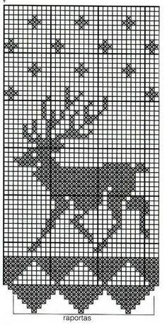 Christmas Crochet Patterns, Stencil Designs, Christmas Cross, Filet Crochet, Beading Patterns, Cross Stitch, Knitting, Diy, Crochet Diagram