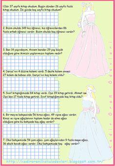 ilkokul ödevleri: 2. sınıf toplama ve çıkarma işlemi problemleri