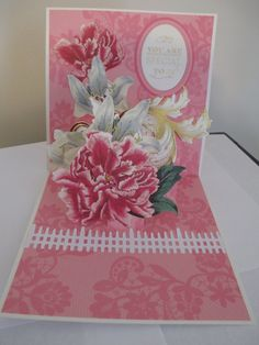 Anna Griffin peonies from Antique Botanicals die cuts and her pop up base