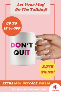 😓Life is hard sometimes. Occasionally you get that feeling that things are just too hard & that you should just give up. ✊ Well, when those moments show up, show them in the face with these Don't Quit products!   ⚠️ SALE ENDS in 24 HOURS!  👆 CLICK IMAGE TO SHOP👆