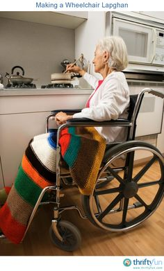This is a guide about making a wheelchair lapghan. When mobility is assisted by a wheelchair, a cozy gift can be a perfectly sized blanket to help keep the occupant warm.