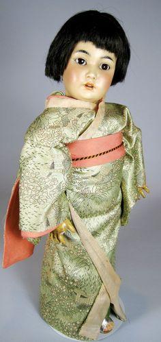 Simon Halbig 1329 Oriental Bisque Head Antique German Doll