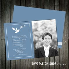 Divine Doves Communion Invitations  First Holy por InvitationShop