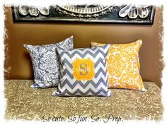 CUSTOM PERSONALIZED Throw Pillows  DECORATIVE Pillows by SoPrep, $32.00