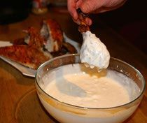 Alabama White Barbecue Sauce-  nice change from traditinal BBQ sauce.  Family fave for our chicken thighs!
