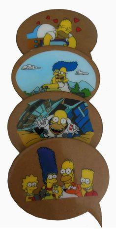Posavasos de los Simpson Pintados a mano Acrilico / MDF