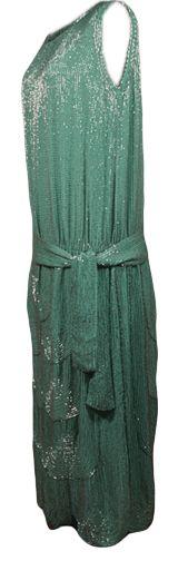 House of Adais of France France: Paris Dress, evening (woman's) 1922 - 1924 Plain weave; Beaded Silk; Beads and beadwork; Beads (bugle) TC 66.46-2, p1