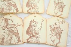 Alice in Wonderland Favor Tags White Rabbit by seasonaldelights, $6.50