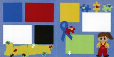 Autism Boy or Girl 0720   Out On A Limb Scrapbooking Scrapbook Pages, Scrapbooking, Autism, Boy Or Girl, Kids Rugs, Boys, Baby Boys, Kid Friendly Rugs, Scrapbooks