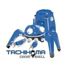 Awesome 'Tachikoma+Blue' design on TeePublic!