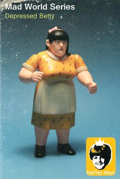 """Betterdaystoys """"Depressed Betty"""" resin action figure!"""