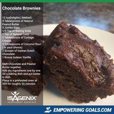 Isagenix chocolate brownies