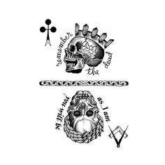 TETE DE MORT SKULL / Carte - flash sheet via Polyvore