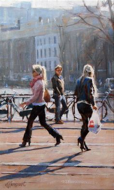 Onderweg | oil on linen painting by Richard van Mensvoort