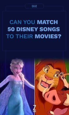 Can You Match 50 Disney Songs to Their Movies?