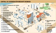 Esquema general de una central de #biomasa