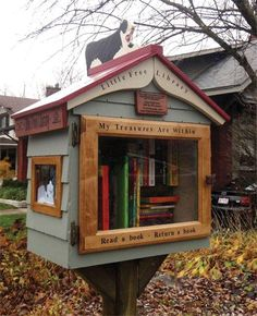 It's a Mailbox … It's a Bird House … No, Wait, It's a Library! « On Wisconsin