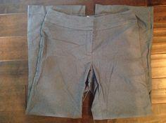 Kenneth Cole New York Women Gray Dress Pants Size 10 #KennethCole #DressPants