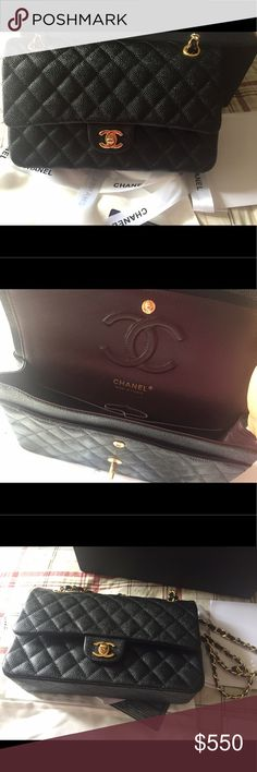 100% Real Caviar Leather Bag Designer Inspired. This is a Designer inspired bag and not the real deal. Look great for less. It's a classic in your bag collection and holds up just like the real one. Ask questions. Pay 459 via PayPal CHANEL Bags Crossbody Bags