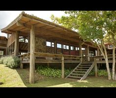 Imagem 15 House In The Woods, My House, Outdoor Pavillion, Eco Cabin, Retreat House, Bamboo House, Backyard Bar, Natural Homes, Farm Stay