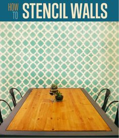 How to Stencil Walls |  This would be a great project you should know for home decoration. #DIYReady DIYReady.com