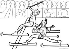 Hiihto 16 Colouring, Coloring Pages, School Projects, Art School, Finland, Olympics, Skiing, Arts And Crafts, Printables