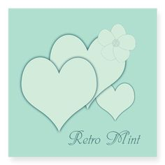 Retro Mint Romantic Sticker, editable text, for personalized gifts, home decor.