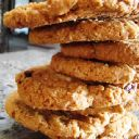 Healthy Fat free Oatmeal Raisin Cookies made with Applesauce instead of butter