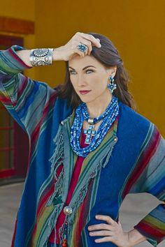 Love this blue gemstone necklace from rocki gorman