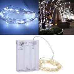 LED Ljusslinga 3m Batteridriven - Vitt ljus
