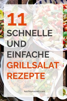 quick and easy barbecue salad recipes - 11 schnelle und einfache Grillsalat-Rezepte 11 quick and easy barbecue salad recipes. Vegetarian, vegan, with meat – here you are guaranteed to find something. Perfect for the BBQ. Barbecue Salad Recipes, Vegetarian Salad Recipes, Pork Recipes, Snack Recipes, Cooking Recipes, Grilling Recipes, Vegan Vegetarian, Snacks, Greek Recipes