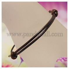 """Corea cera del cotone making cavo braccialetto, regolabile, colore misto, """"diametro adattabile:40~70mm all'ingrosso - It.Pandahall.com"""