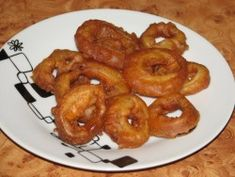 Krążki cebuli w cieście Polish Recipes, Polish Food, Onion Rings, Tandoori Chicken, Feta, Tapas, Shrimp, Ethnic Recipes, Cos