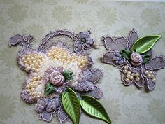 Pearl/Mauve Applique by Magical Mystery Tuca, via Flickr