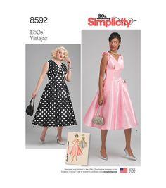 Simplicity Vtg 50/'s Rockabilly Dress Wonder Woman Batgirl Costume Pattern 10-28W