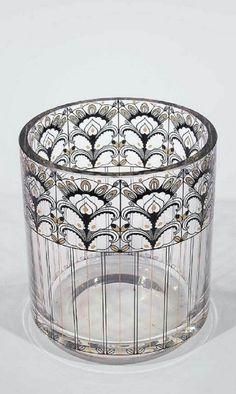 Vase Fachschule Steinschoenau glass