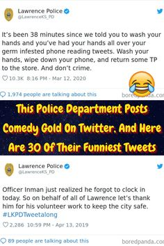 #Police #Department #Posts #Comedy #Gold #Twitter #Funniest #Tweets